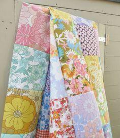 nice vintage sheet quilt