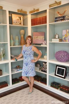 Melodie Rubin of House of Ruby,  The Bookcase Lights and interior paint color