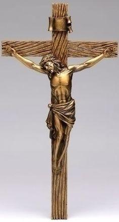 "F.C. Ziegler Company - Antique Gold Crucifix - 20"", $40.00 (http://www.zieglers.com/antique-gold-crucifix-20/religious-articles/crucifix-crosses/)"