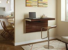 How to Make a Space-Saving Floating Desk   Easy Crafts and Homemade Decorating & Gift Ideas   HGTV