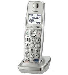 Panasonic KXTGEA20S Digital Cordless Handset for TGE210/230/240/260/270 series, Silver (Certified Refurbished)