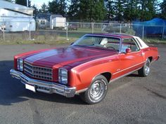 1976 Monte Carlo~Lol The car my mom owned during my early childhood.ours was red too but our top was black, not white like on this one. Chevrolet Monte Carlo, Used Sports Cars, General Motors Cars, Daimler Ag, Derby Cars, Mercedes Car, American Muscle Cars, Drag Racing, Classic Cars