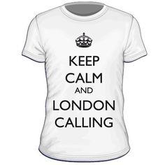 Maglietta personalizzata Keep Calm and London Calling