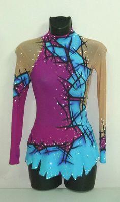 Rhythmic gymnastics leotards: BLUE GYMNASTICS LEOTARDS FROM NinaAlt Studio 3