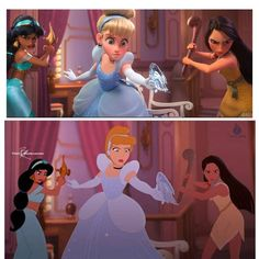 I would like it so much better if we got to see the different styles of disney artists. I love the crossover idea but its an insult to Walt Disney himself to take his hand drawn characters and turn them to playdoh <<totally agree Disney Marvel, Disney Pixar, Disney Animation, Disney Amor, Disney E Dreamworks, Film Disney, Disney Jokes, Funny Disney Memes, Cute Disney