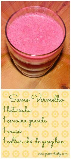 Green tasty: Sumo vermelho