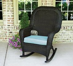 Tortuga Outdoor Furniture Lexington Rocking Chair, Custom Lexington Cushion, Tortoise Wicker ** Want to know more, click on the image. (This is an affiliate link) #PatioFurniture