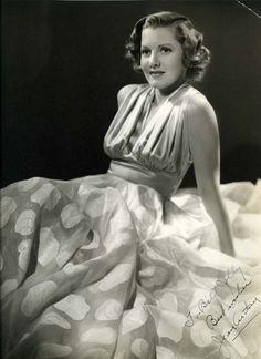 Jean Arthur Autographed Photo