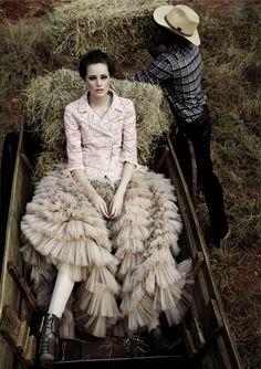 """Dream Farm"" | Model: Thairine Garcia, Photographer: Fabio Bartelt, Elle Brazil, May 2011"