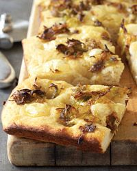 First thing to make with the kitchen-aid mixer i got for Christmas- Potato-Leek Focaccia Recipe on Food & Wine