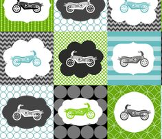 California Kids Motorcycle Baby Crib Bedding Set Baby