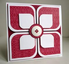 Inky Fingers: Flower Petal Card - Craft ~ Your ~ Home Scrapbook Paper Crafts, Scrapbook Cards, Scrapbooking, Handmade Birthday Cards, Greeting Cards Handmade, Cool Cards, Diy Cards, Beautiful Handmade Cards, Card Sketches