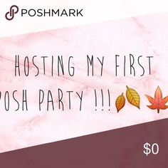HOSTING A POSH PARTY I'm hosting a posh party for pretty flirty girl at 10pm  on 10/15 tag your closets so I can check them out 🎉❤️ so excited this is my first party as a host !! Help me share this listing and tag your pffs :) Other