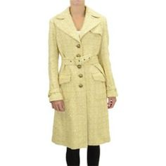 Banana Republic yellow wool trench Gorgeous Banana Republic heavy wool coat with silk inner lining and brass buttons. Worn only once, like new! Banana Republic Jackets & Coats Trench Coats