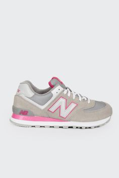New Balance, 574 Core Sneakers (WL574EXP), grey/pink http://www.goodasgold.co.nz/collections/new-balance