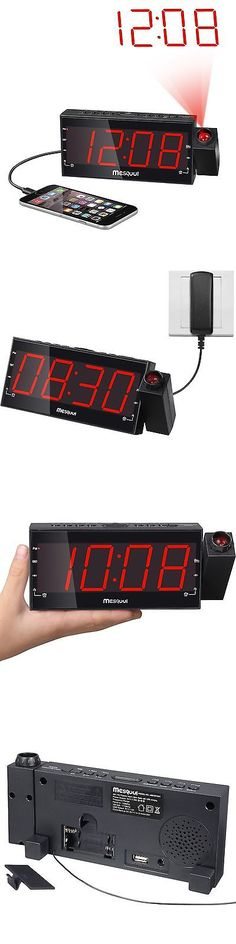Digital Clocks and Clock Radios: Mesqool Am/Fm Digital Dimmable Projection Alarm Clock Radio With 1.8 Led Dis... BUY IT NOW ONLY: $39.1