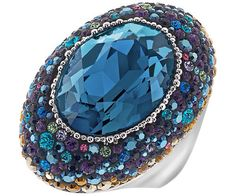 Swarovski deep blue ring.