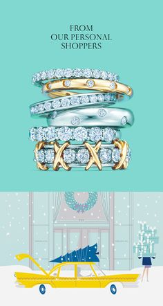 How about surprising her with a dazzling Tiffany Celebration® ring? #ATiffanyHoliday