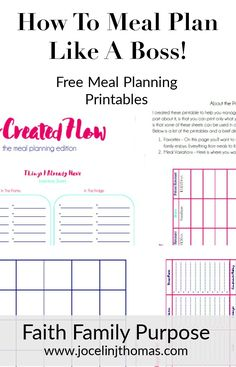 Meal Planning Tips + Planner
