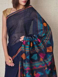 Yale Kanchi-Cotton Saree - Tribal on Jaypore.com