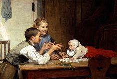 Albert Anker-Die drei Geschwister
