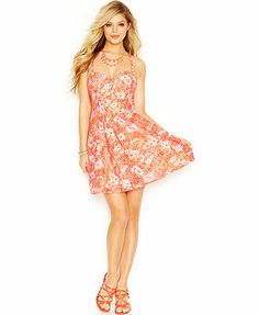 GUESS Floral-Print Lace Dress - cute overpriced dress, a girl can dream