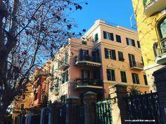 Lido di Ostia: colourful buildings https://aladyinrome.com/2017/02/17/%EF%BB%BFa-winter-walk-in-lido-di-ostia-with-lady/ #ostia #rome #aladyinrome #visitrome #architecture #travel #design