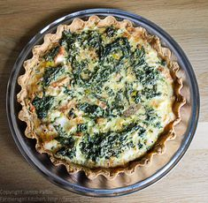Farmersgirl Kitchen: A Salmon and Nettle Tart - Dish of the Month