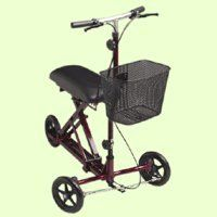 Medline Weil Knee Walker, Burgundy. Details at http://youzones.com/medline-weil-knee-walker-burgundy/