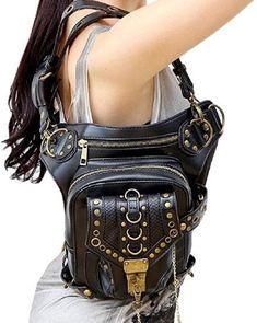 faca2a7b34c69 Wendin Rock Leather & Vintage Gothic Retro Steampunk Handbag V ... |  FashionMeThat Retro
