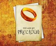 My Precious Lord of the Rings Geek Love Card