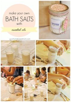 Give mom the gift of relaxation for Mother's Day with some homemade scented bath salts. She'll love it!