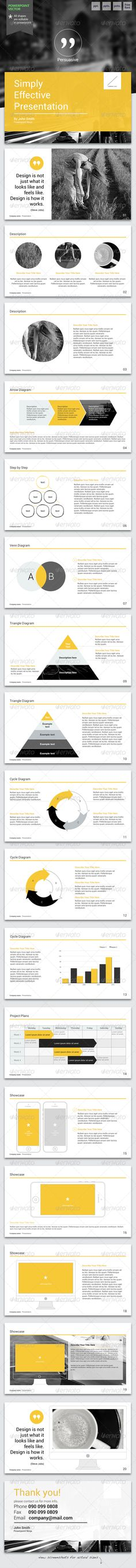 Persuasive - Powerpoint Template  #GraphicRiver              Impress your audience with clean, modern, and professional presentation!.