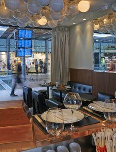 En ouvrant son nouveau restaurant Le Lazare, au cœur de Saint-Lazare, Éric Frechon rafraîchit les codes de la brasserie de gare