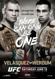UFC 188 Official Event Poster (Velasquez vs. Werdum) - Mexico City 6/13/2015