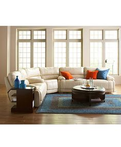 nina leather power reclining sectional sofa collection buy living room furniture at macyu0027s - Macys Living Room Furniture
