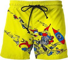 Galaxy Voyage Universe Butterfly Boy Mens Swim Trunks Surf Pants 3D Swimming Trunks Board Shorts for Men