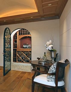 A temperature-and-humidity-controlled wine room is any oenophile's dream.