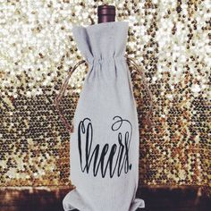 """""""Cheers"""" Champagne or Wine Gift Bag - $10"""