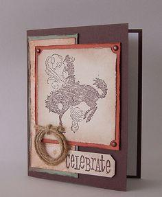 Celebrate Card Cowboy Western Theme  Masculine by Durhamhouse, $2.50