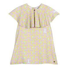 Designer Dresses For Kids, Gold Logo, Kids Online, Mini Me, Maze, Lanvin, I Dress, No Frills, Short Sleeve Dresses