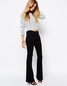 Noisy May Flared Jeans