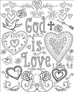 53 Best Scripture Coloring Pages images in 2019 | Coloring pages ...