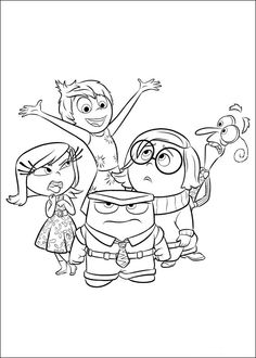 Inside Out coloring picture More Make your world more colorful with free printable coloring pages from italks. Our free coloring pages for adults and kids. Inside Out Coloring Pages, Coloring Book Pages, Printable Coloring Pages, Free Coloring, Coloring Pages For Kids, Kids Coloring, Disney Coloring Sheets, Inside Out Emotions, Disney Colors