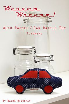 Auto-Rassel / Car Rattle Toy Tutorial by ellis & higgs, via Flickr
