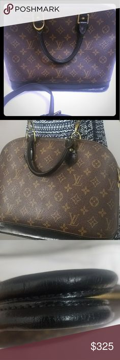 Authentic LV Alma PM France 2001 Shows signs of wear on leather painted and sealed for protection.  Overall sense if use. Comes with no brand adjustable shoulder strap. View pictures closely and zoom in. As always a big part of description Louis Vuitton Bags