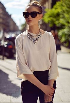 Take your outfit to the next level with a fun statement necklace.