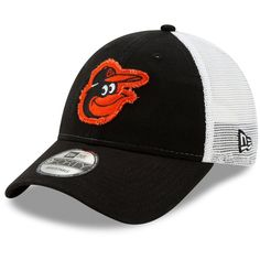 size 40 67729 ac822 Men s Baltimore Orioles New Era Black White Team Truckered 9FORTY  Adjustable Hat, Your Price   23.99