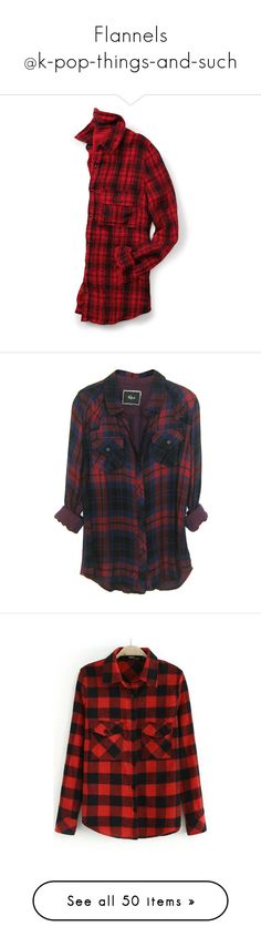 """Flannels @k-pop-things-and-such"" by k-pop-things-and-such ❤ liked on Polyvore featuring tops, shirts, jackets, plus size shirts, plus size long shirts, women's plus size tops, plus size plaid shirt, long shirt, flannels and plaid shirts"