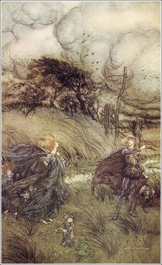 A midsummer-night's dream - Act II, Scene I: And now they never meet in grove or green, By fountain clear, or spangled starlight sheen, But they do square... Rackham